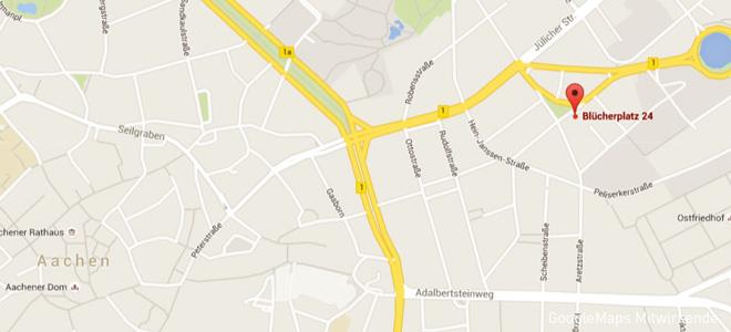 Karte Stadtbad Aachen