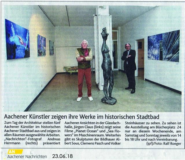 Bild Artikel Aachener Nachrichten Stadtbad Aachen