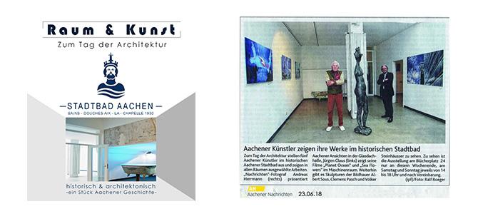 Bild zur Ausstellung Raum und Kunst im Stadtbad Aachen