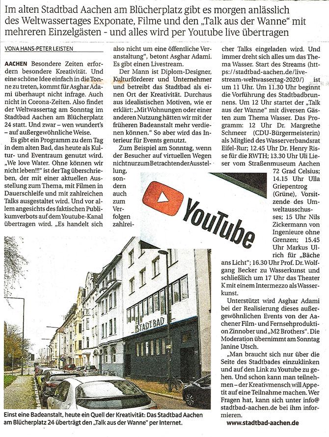 Zeitungsartikel-Weltwassertag