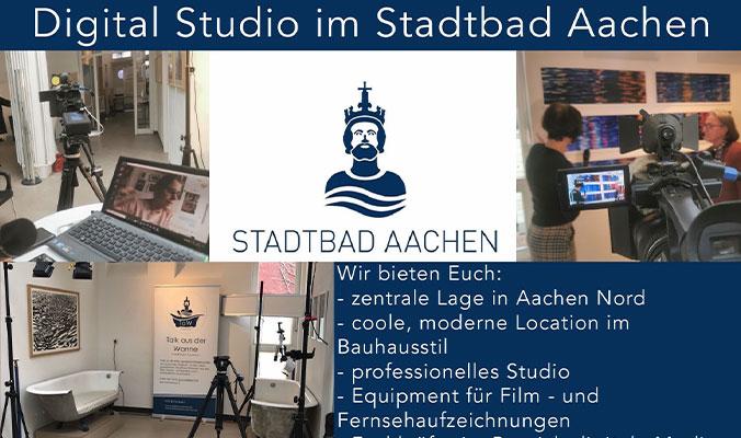 Flyer Digitalstudio im Stadtbad Aachen