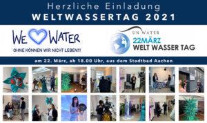 Einladung Weltwassertag 2021 - Stadtbad Aachen