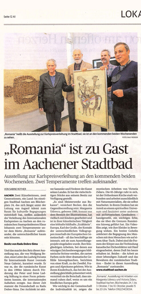 """Bild Presseartikel """"Romania"""" ist zu Gast im Aachner Stadtbad, Text: Sabine Rother, Foto: Ralf Roeger"""